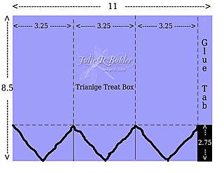 JRB triangle treat box