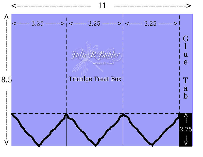 JRB triangle treat box