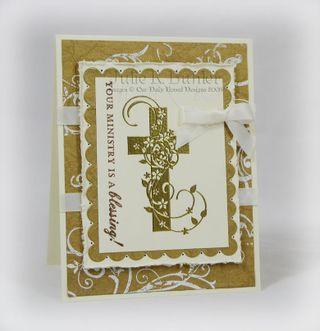 JRB pastor card