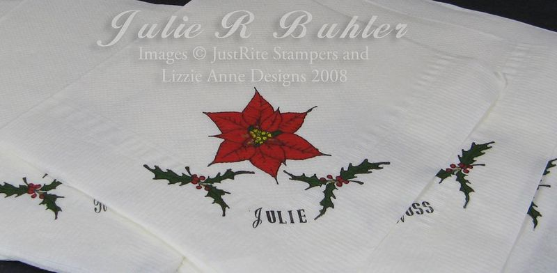 JRB personalized napkins
