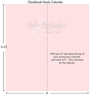 JRB checkbook calendar template