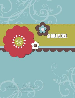 JRB friend flower card