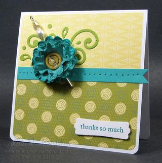 JR modern stampin card