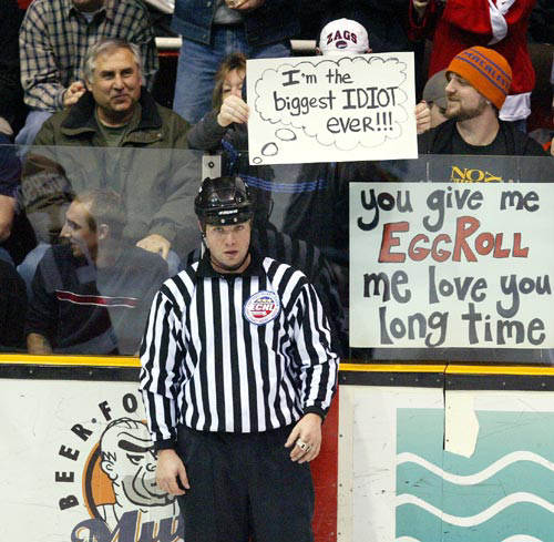 Hockey ref idiot