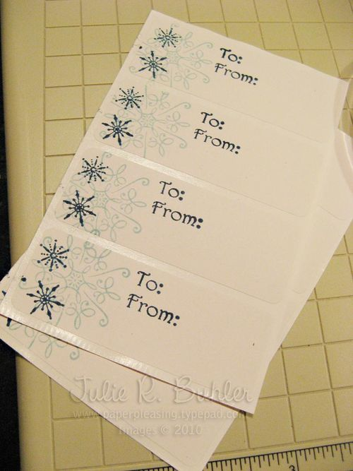 JRB snowflake labels