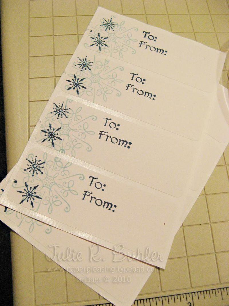 JRB snowflake labels
