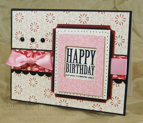 JRB birthday frame