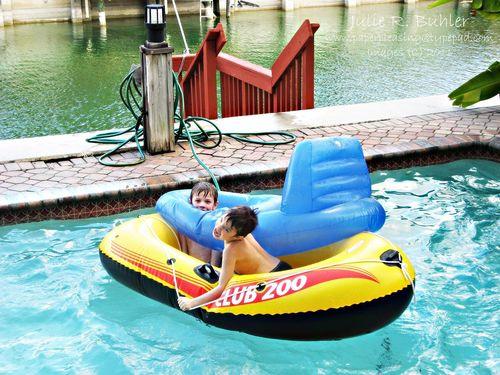 Miami pool fun