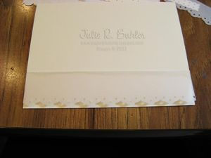 JRB row 1 lace card
